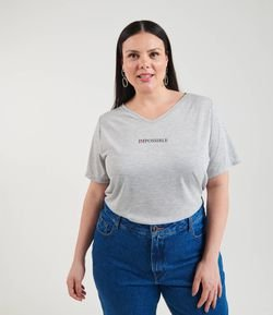 Blusa com Estampa Impossible Curve & Plus Size