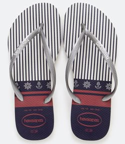 Chinelo Slim com Estampa Nautical Havaianas