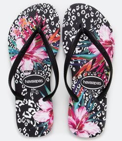 Chinelo Slim Animal Floral Havaianas