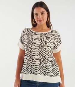 Blusa Animal Print Curve & Plus Size