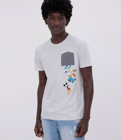 CAMISETA COM ESTAMPA MICKEY