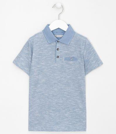 Camisa Polo Infantil com Bolsino Frontal - Tam 5 a 14 anos