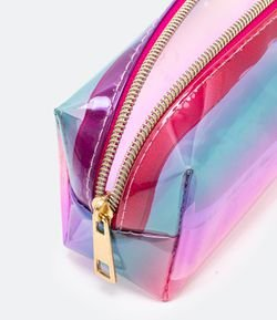 Necessaire Estojo Multicolorida Degradê