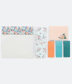 Kit de Post-it Liso e Floral