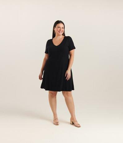 Vestido Liso em Ribana Curve & Plus Size