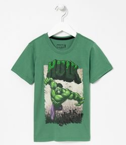 Camiseta Infantil Estampa do Hulk - Tam 4 a 8 anos