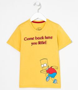 Camiseta Infantil Estampa Frente e Costas Barth e Homer Simpsons - 5 a 14 anos
