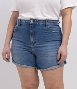 Short Jeans Mom Curve & Plus Size