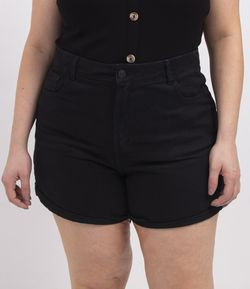 Short Mom em Sarja Curve & Plus Size