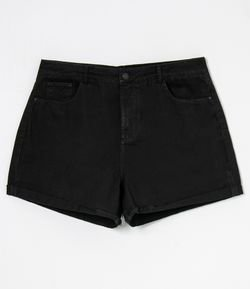 Short Mom em Sarja Sem Estampa Curve & Plus Size