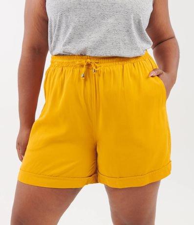 Short Liso com Amarração Curve & Plus Size