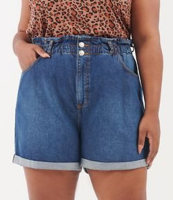 Short Mom Jean com Elástico Curve & Plus Size