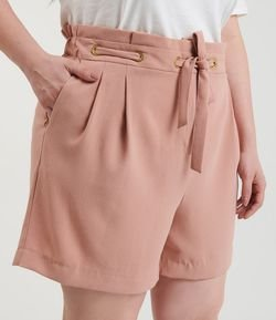 Short Clochard com Ilhós e Cinto Curve & Plus Size