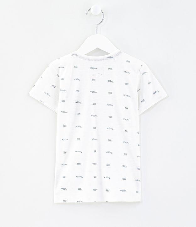 Camiseta Infantil Estampada com Bolso Fake Suede - Tam 1 a 4 anos | Póim (1 a 5 anos) | Branco | 03