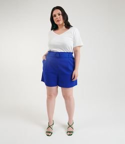 Short Linho Clochard com Cinto Curve & Plus Size
