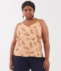 Regata Estampada Curve & Plus Size