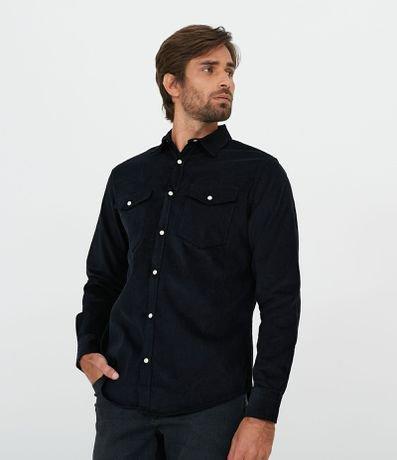 Camisa Comfort em Veludo Lisa