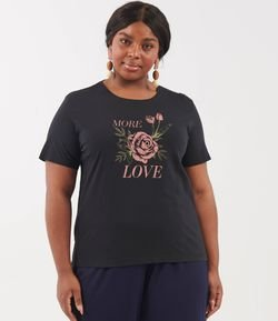 Blusa com Estampa Love Curve & Plus Size