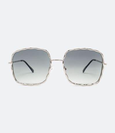 Óculos de Sol Feminino Quadrado Metal