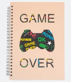 Cuaderno Estampa Localizada Game Over