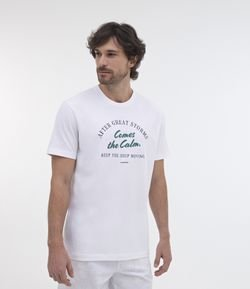 Camiseta Comfort Fit Estampa After Great Storms Comes The Calm