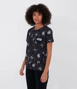 Blusa com Estampa no Bolso Star Wars