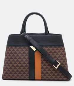 Cartera Satchel Estampa Triangulos