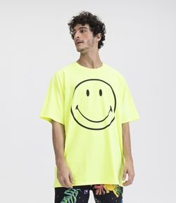 Camiseta Neon Estampa Smile