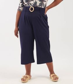 Calça Pantacourt Lisa Curve & Plus Size