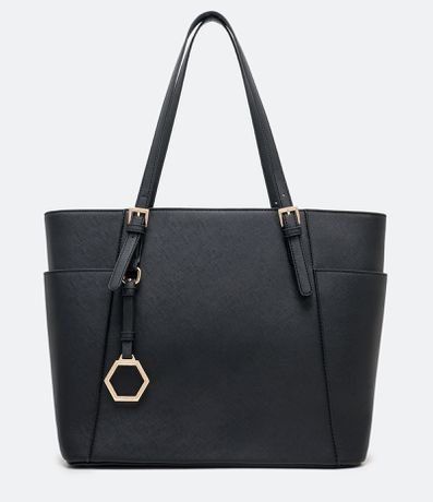 Bolsa Shopper Lisa com Pingente Hexagonal