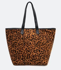 Cartera Shopper Leopardo