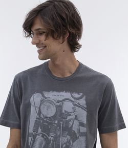 Camiseta Comfort Fit Estampa Moto Love To Ride