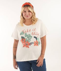 Blusa com Estampa Take it Easy Curve & Plus Size