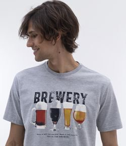 Remera Confort Fit Estampa Cerveza Brewery