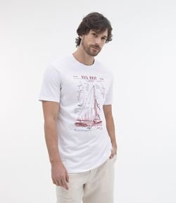 Remera Confort Fit Estampa Sketch Barco