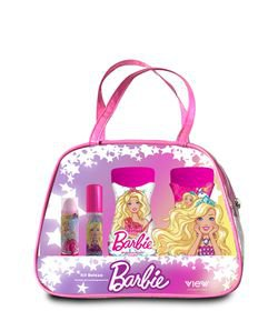 Kit Beleza Barbie Shampoo + Condicionador + Batom + Gloss