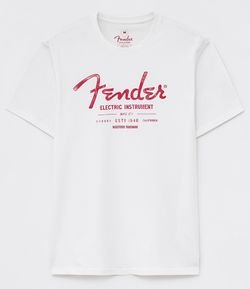 Camiseta Comfort Fit Estampa Fender