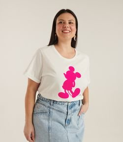 Blusa com Estampa do Mickey Curve & Plus Size