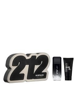 Kit Perfume Carolina Herrera 212 Vip Men Black Eau de Parfum + Gel de Banho