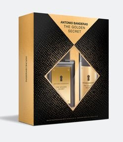 Kit Perfume Antonio Banderas The Golden Secret Masculino Eau de Toilette + Desodorante