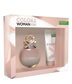 Kit Perfume Benetton Colors Woman Rose Eau de Toilette + Loção Corporal
