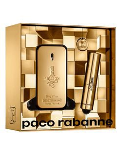 Kit Perfume Paco Rabanne One Million Masculino Eau de Toilette + Travel Spray
