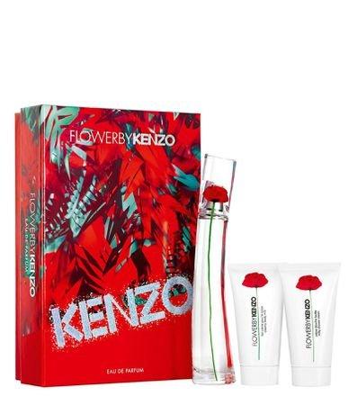 Kit Perfume Kenzo Flower Feminino Eau de Parfum + 2 Gel de Banho