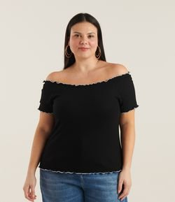 Blusa Ribana Ombro a Ombro Curve & Plus Size
