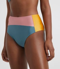 Biquíni Hot Pants Color Block