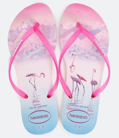 Chinelo Feminino Slim Flamingos Havaianas