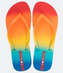 Chinelo Feminino Degradê Multicolorido Ipanema