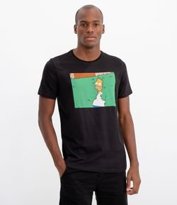 Camiseta com Estampa Homer Simpsons