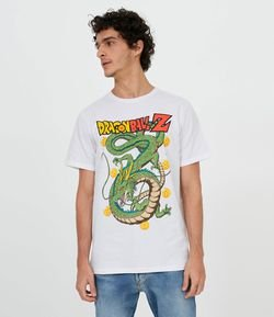 Camiseta Manga Curta com Estampa Dragon Ball