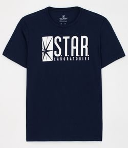 Camiseta com Estampa Star Labs Brilha no Escuro